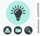 light lamp vector icon | Shutterstock .eps vector #1043999590