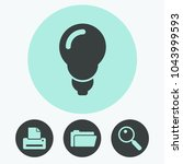 light lamp vector icon | Shutterstock .eps vector #1043999593