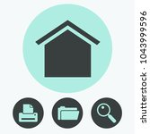 home vector icon | Shutterstock .eps vector #1043999596