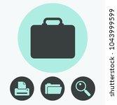 briefcase vector icon   Shutterstock .eps vector #1043999599