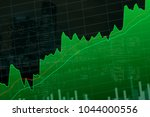 close up stock or forex chart... | Shutterstock . vector #1044000556