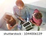 top view of business people...   Shutterstock . vector #1044006139