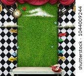 conceptual fantasy background ...   Shutterstock . vector #1044009244