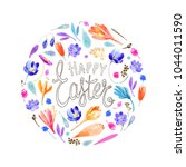 bright colorful joyful easter... | Shutterstock . vector #1044011590