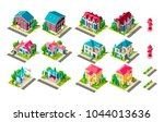 set vector isolated isometric... | Shutterstock .eps vector #1044013636
