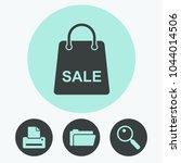 sale bag vector icon | Shutterstock .eps vector #1044014506