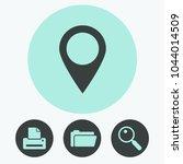 map pointer vector icon | Shutterstock .eps vector #1044014509