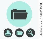 file folder vector icon | Shutterstock .eps vector #1044014530