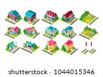 set vector isolated isometric... | Shutterstock .eps vector #1044015346