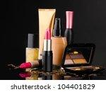 osmetics isolated on black | Shutterstock . vector #104401829