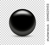 black clear ball on transparent ... | Shutterstock .eps vector #1044025453