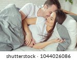 beautiful romantic couple... | Shutterstock . vector #1044026086