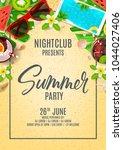 poster invitation for summer... | Shutterstock .eps vector #1044027406