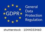 gdpr banner. general data... | Shutterstock .eps vector #1044033460