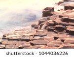 the giant's causeway antrim...   Shutterstock . vector #1044036226