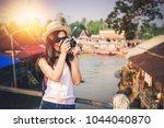 Woman Photographer Taking Photo ...