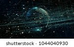 digital data earth | Shutterstock . vector #1044040930