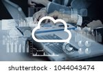 cloud computing concept. | Shutterstock . vector #1044043474