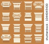 vector ancient greek roma... | Shutterstock .eps vector #1044045430