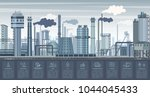 industrial infographics with... | Shutterstock .eps vector #1044045433