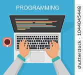vector programming  coding web... | Shutterstock .eps vector #1044045448