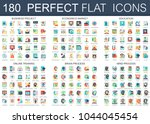 180 vector complex flat icons... | Shutterstock .eps vector #1044045454