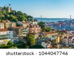 late afternoon panorama in... | Shutterstock . vector #1044047746