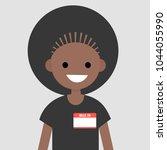 """hello  my name is"" badge.... | Shutterstock .eps vector #1044055990"
