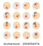 pain vector set  man body parts | Shutterstock .eps vector #1044056476