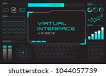 hologram virtual digital touch...