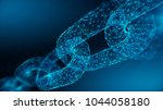 block chain concept   chain... | Shutterstock . vector #1044058180