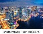 scenic aerial view of dubai... | Shutterstock . vector #1044061876