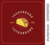 tacos logo vector illustration. ... | Shutterstock .eps vector #1044065503