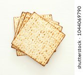 passover background with matzoh ... | Shutterstock . vector #1044069790
