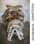 Small photo of Old saddle for donkey, island of Vis, Dalmatia, Croatia