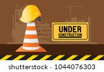 building under construction site | Shutterstock .eps vector #1044076303