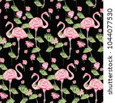 cute summer pattern with... | Shutterstock .eps vector #1044077530