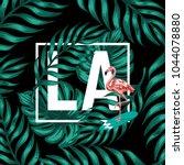 la. vector poster with hand...   Shutterstock .eps vector #1044078880