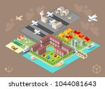 build your own city . set of... | Shutterstock .eps vector #1044081643