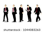 businessman character set | Shutterstock .eps vector #1044083263
