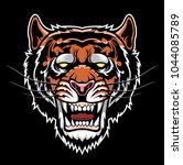 angry tiger head. | Shutterstock .eps vector #1044085789