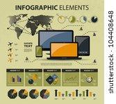 vector set of infographic... | Shutterstock .eps vector #104408648