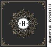 ornament monogram logo design...   Shutterstock .eps vector #1044086548