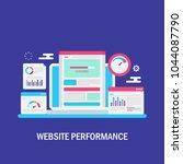 website performance  website...   Shutterstock .eps vector #1044087790