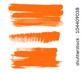 orange gouache brush strokes  ... | Shutterstock .eps vector #104409038