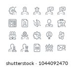 simple line icon set of human... | Shutterstock .eps vector #1044092470