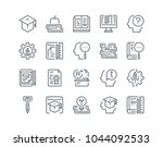 simple line icon set of...   Shutterstock .eps vector #1044092533