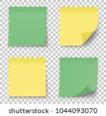 post note sticker. paper... | Shutterstock .eps vector #1044093070