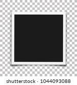 photo frame mockup. vector... | Shutterstock .eps vector #1044093088