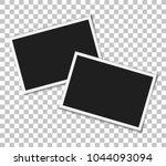 vintage photo frames on... | Shutterstock .eps vector #1044093094
